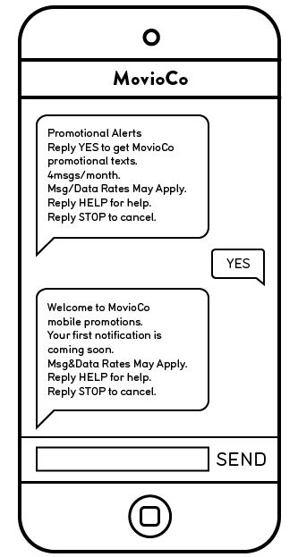 SMS double opt in Movio