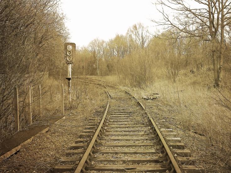 Disused railway tracks in Burnley.