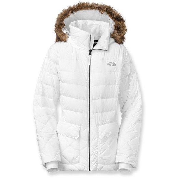 The North Face Nitchie Down Parka (6 730 UAH) ❤ liked on Polyvore featuring outerwear, coats, white coat, the north face, parka coat, the north face® coats and white parka