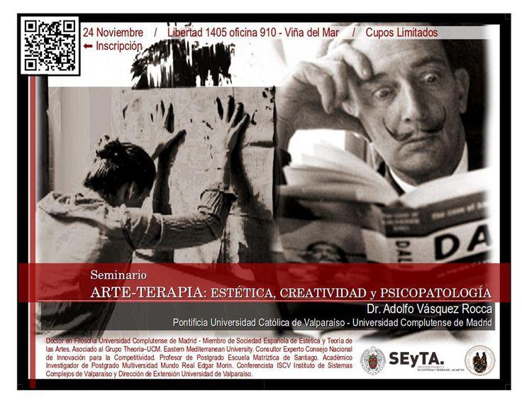 ARTETERAPIA - SEMINARIO ARTETERAPIA, CREATIVIDAD Y PSICOPATOLOGÍA, Dr. Adolfo Vásquez Rocca
