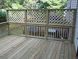 I'm looking for deck privacy screen options.  This one is the most traditional style I think.