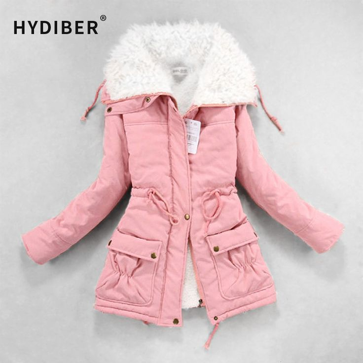 New 2016 Winter Coat Women Slim Plus Size Outwear Medium-Long Wadded Jacket Thick Hooded Cotton Wadded Warm  Cotton Parkas <3 Locate the offer simply by clicking the image