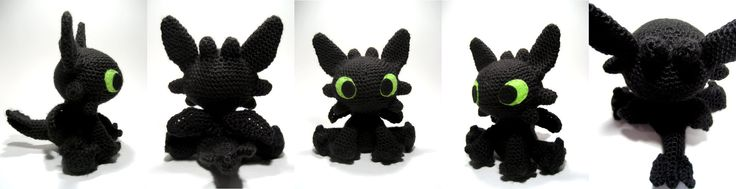 Sarselgurumi: Toothless amigurumi pattern. Wish I could crochet better because this is adorable!