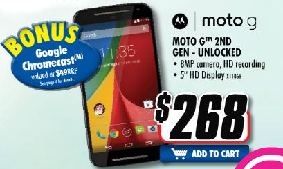 Good Deal: Get a Moto G Gen 2 and Chromecast for $268 from The Good Guys