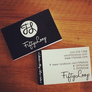 corporate branding - fiftyloop - black and white - business cards