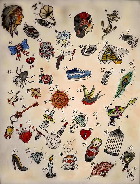Tiny tattoo flash Mini tattoo ideas http//www.dermeffacefx7.com/