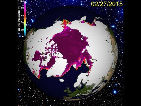 2/28/2015 -- North Pole frozen solid -- South Pole re-freezing -- East C...: http://youtu.be/caliUHYLccY
