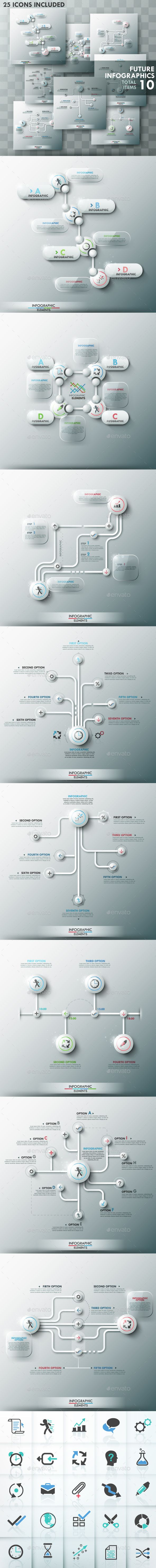 Future Infographic Templates Set #design Download: http://graphicriver.net/item/future-infographic-templates-set/9660804?ref=ksioks