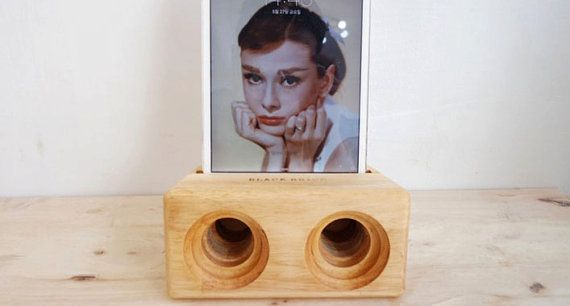 Check out this item in my Etsy shop https://www.etsy.com/listing/470308983/acoustic-wood-amplifier-speaker-for