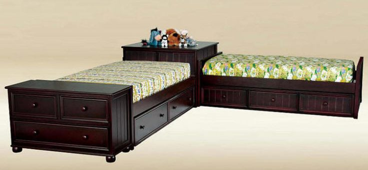Best Brooklyn Twin Size Corner Unit Beds Corner Twin Beds 400 x 300