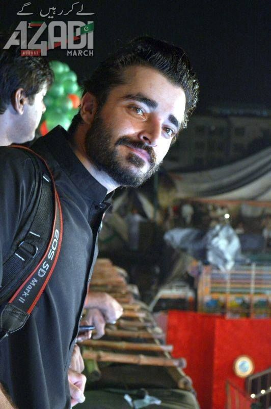 Hamza Ali Abbasi still in the dharna in Islamabad ...... Shooting for the 2nd part of his documentry ITC.... good luck with that hope its gonna be amazing.m<3