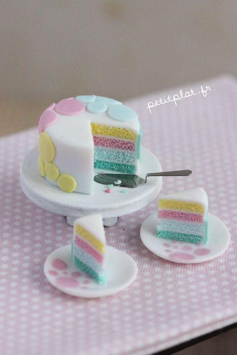 Gâteaux en polymère pastel (fimo)