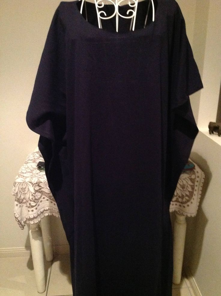 DARK navy maxi CAFTAN  kaftan plus size 14-24,  casual wear, holiday wear, resort wear,pure knit cotton CAFTAN. by curvaciousyouclaire on Etsy