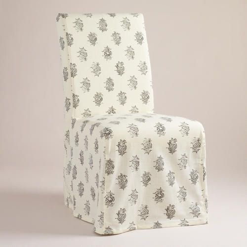 Block Print Long Anna Chair Slipcover. on sale for just $15!