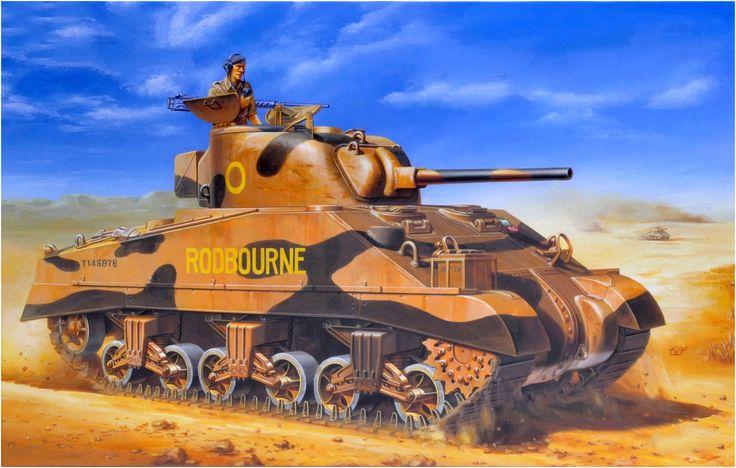 Sherman III (M4A2) «Rodbourne» «T145978» Direct Vision Type (con suspensión temprana VVSS). Escuadrón C, Royal Wiltshire Yeomanry, 9.ª Brigada Acorazada, Alepo, Siria, 1943. http://www.elgrancapitan.org/foro/viewtopic.php?f=12&t=17519&p=919453#p919434