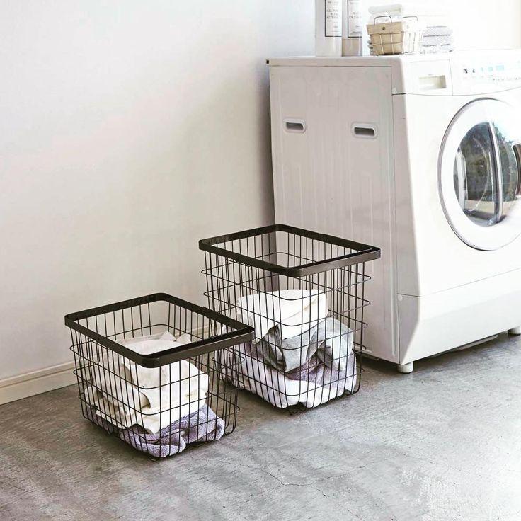 無印良品(muji) 収納 まとめ | キナリノ 洗濯機周り、すっきり♪放り込んでもおしゃれに決まるランドリーバスケット4選