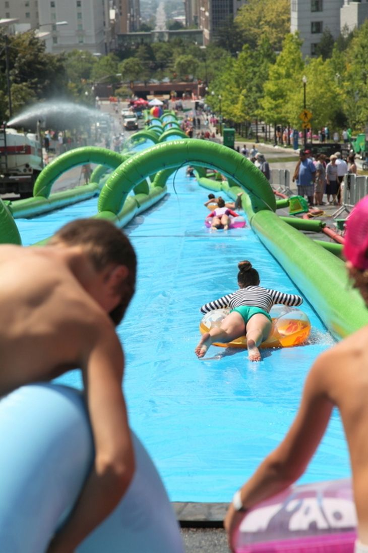 Unique Summer Fun With Slide the City: Giant Slip-N-Slide Coming to a City Near You