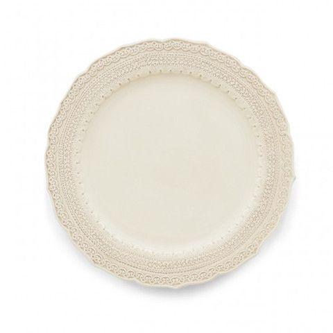 Finezza Cream Dinner Plate - Liz Ann's Interior Design Boutique http://lizann.myshopify.com/products/finezza-cream-dinner-plate