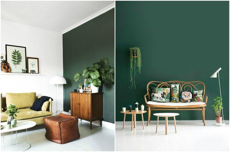 Дизайн интерьера в зеленых тонах #дизайн #интерьер #декор #тренды #стиль