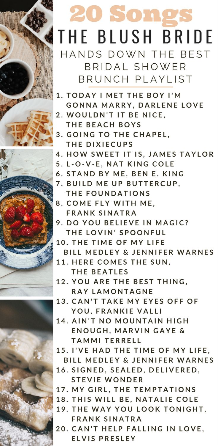 Hands Down the Best Bridal Shower Brunch Playlist Songs