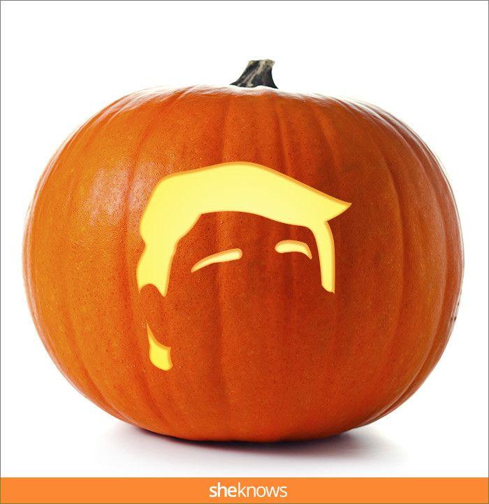 Donald Trump pumpkin-carving templates . | More at @Sheknows