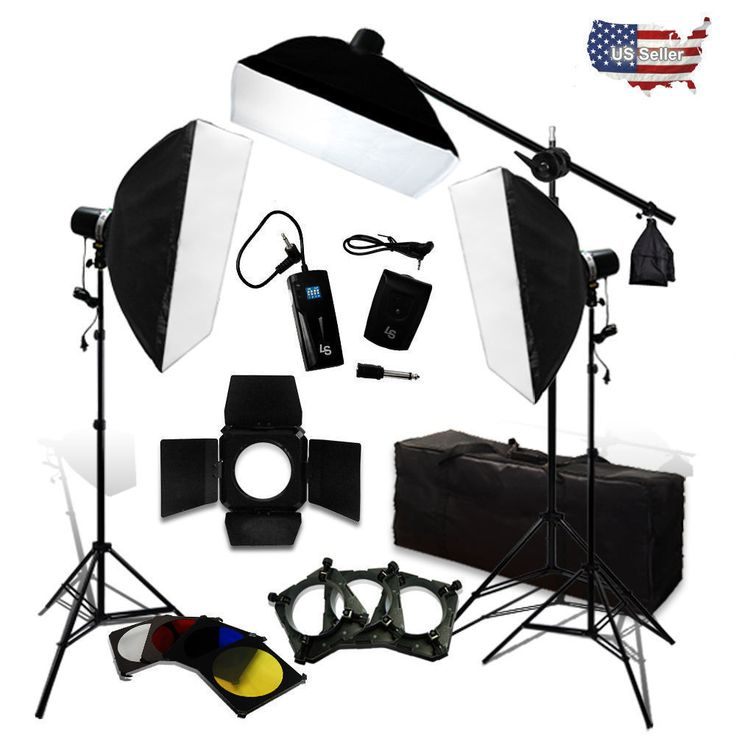 750W Flash Strobe Light Complete Kit Boom Arm Soft Box and Light Stand Kit #LusanaStudio