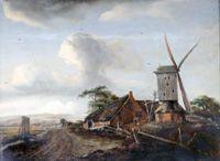 Мейндерт Хоббема. Пейзаж с мельницей. Третья четверть XVII в.