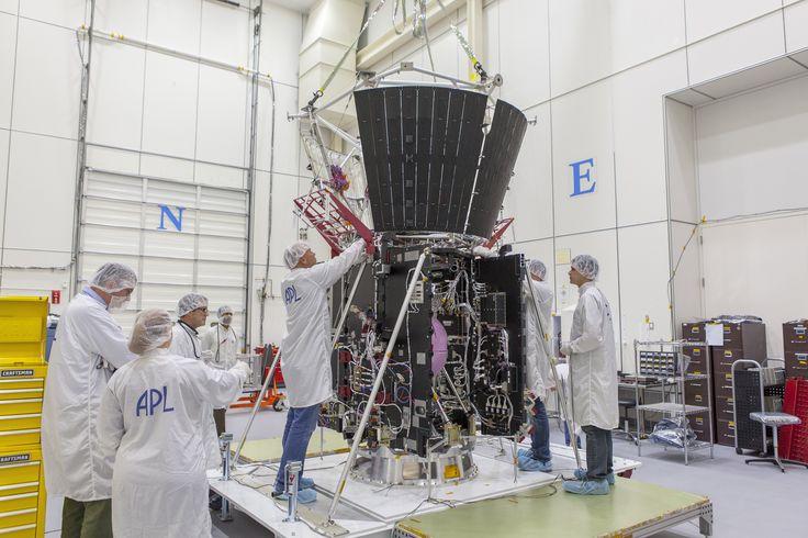 Engineers at the Johns Hopkins University Advanced Physics Laboratory in Laurel, Maryland, work on NASA's Parker Solar Probe.