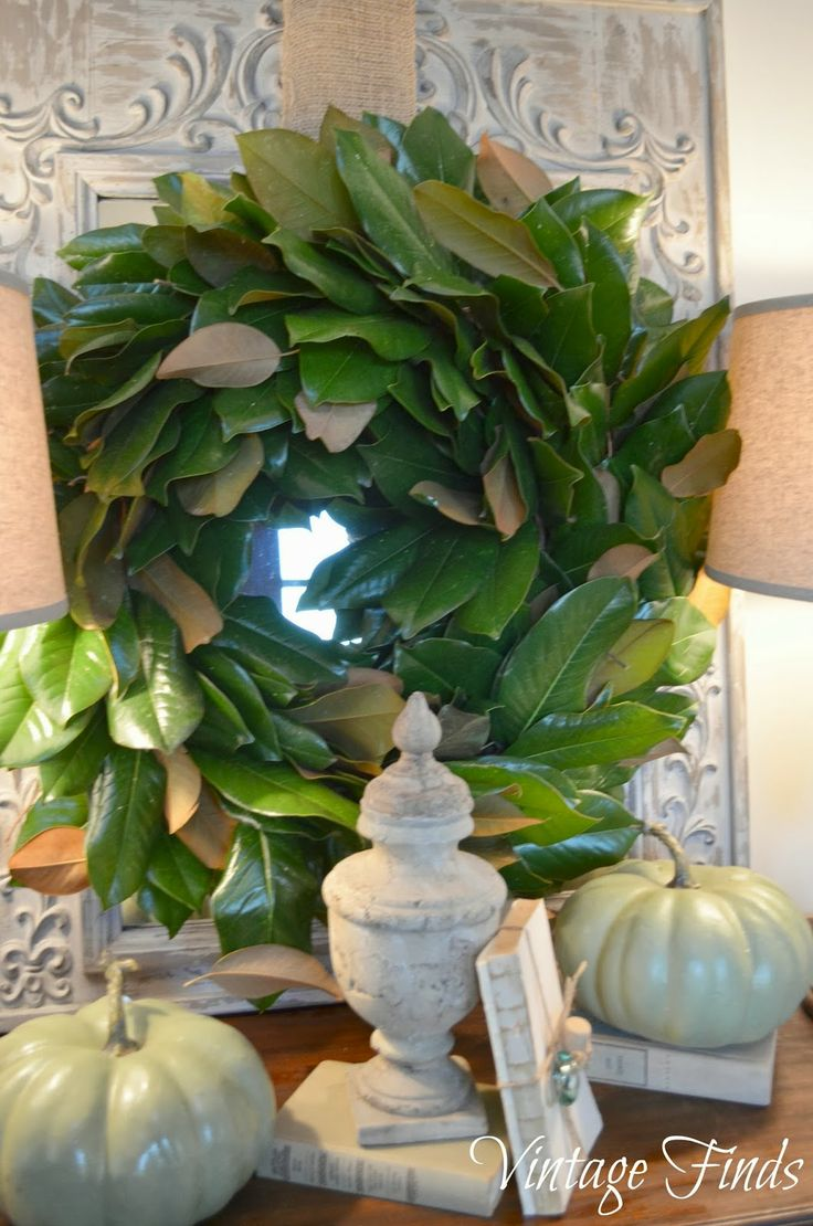Fall Magnolia Wreath: Fall Magnolia Wreath
