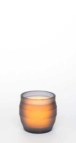 "4"" Origins Glass Jar w/ Programmable Timer, Gray"