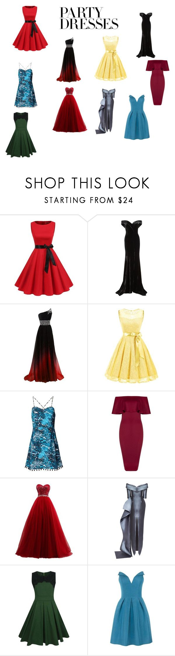"""Untitled #46"" by twentyshades ❤ liked on Polyvore featuring Rachel Gilbert, Matthew Williamson, Mark Bumgarner, WithChic and Oscar de la Renta"