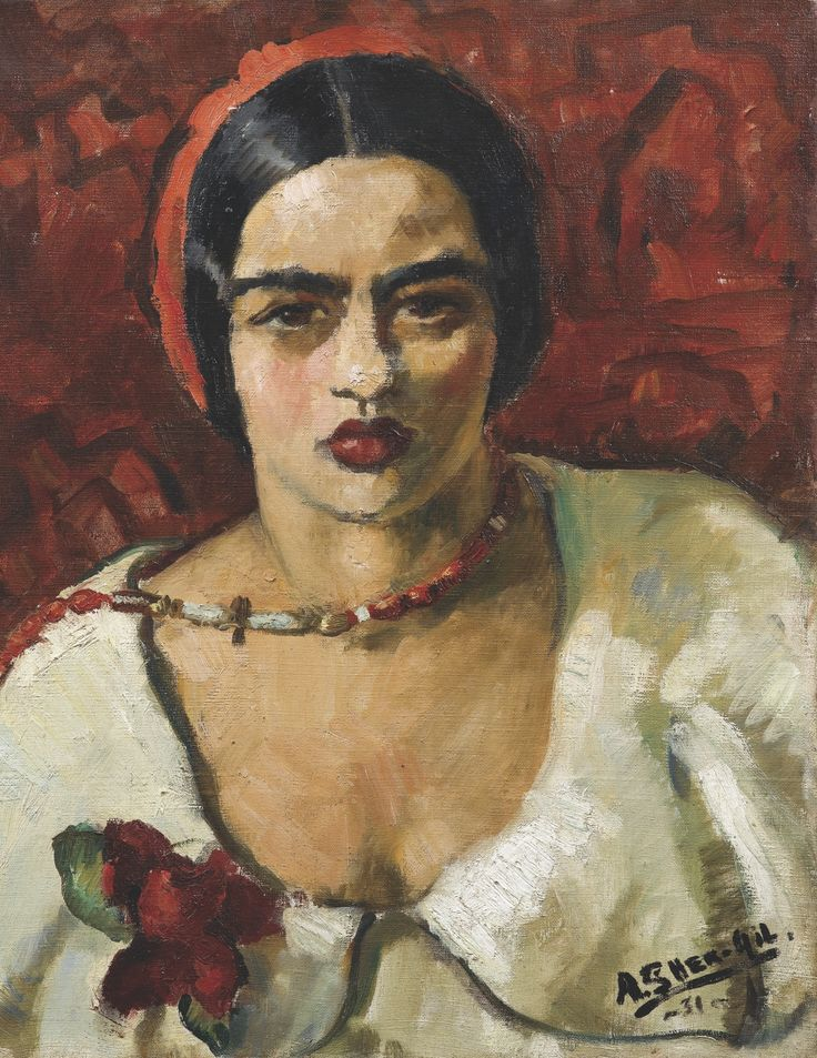 Amrita Sher-Gil (1913~1941 Hungary-India) was an eminent Indian painter (sometimes aka India's Frida Kahlo) was born to a Punjabi Sikh father and a Hungarian-Jewish mother.