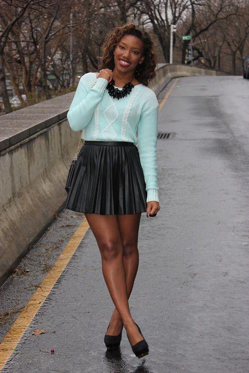 sexy ebony teens in mini skirts