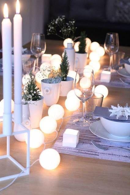 Decoración de mesas para fin de año