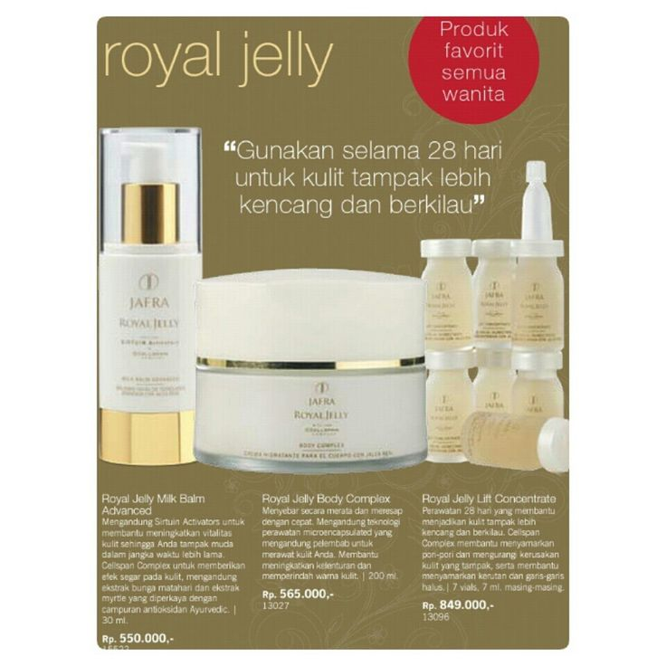 Jafra Royal Jelly ♡ the incredible product, love it ♡♡