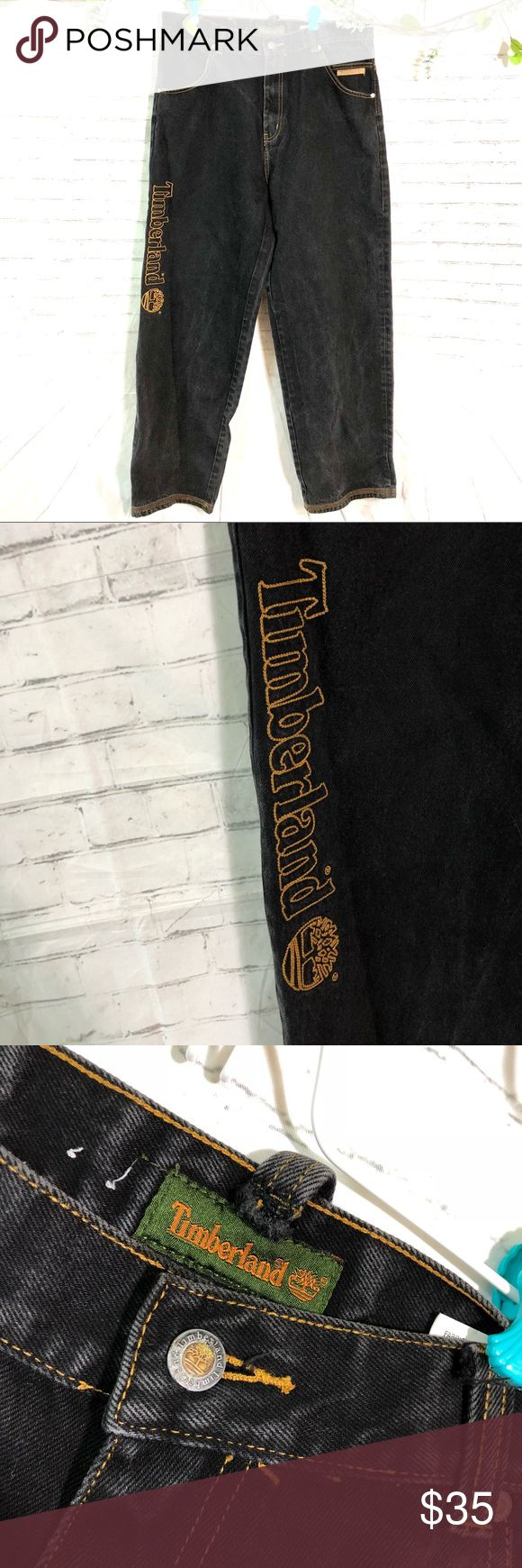 Timberland 36x34 Dark Washed relaxed baggy jeans Great condition!! High quality Timberland Jeans Relaxed