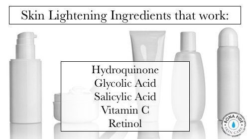 These skin lightening ingredients are the ones that work. Skin whitening, brightening. #Skinwhiteningproducts