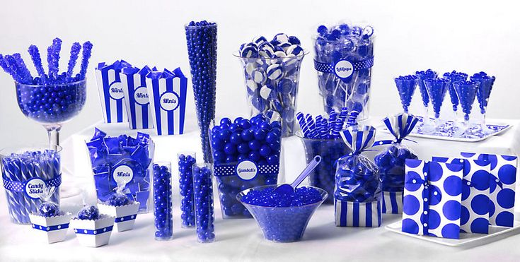Blue Candy Buffets   Time for the Holidays