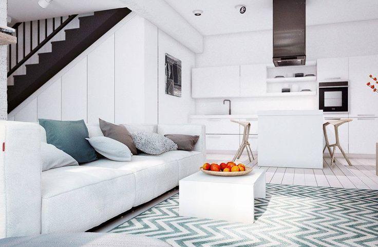 Liten stue og lite kjøkken