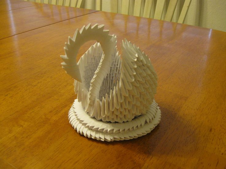 how to make a paper swan easy step by step