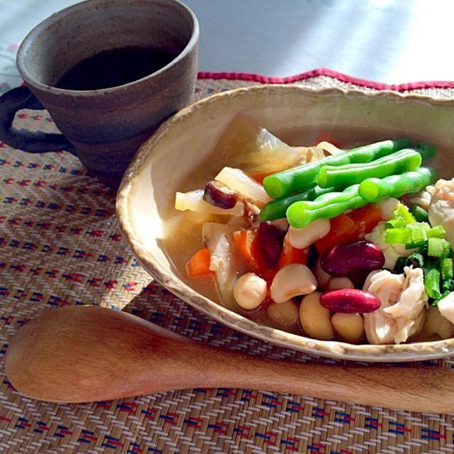 ササミの具沢山スープ - 55件のもぐもぐ - ダイエット3日目 朝 by bmist