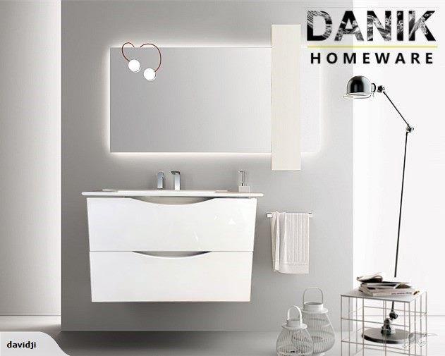 Vanity white wall hung 600mm 3 size!-[DANIK] | Trade Me