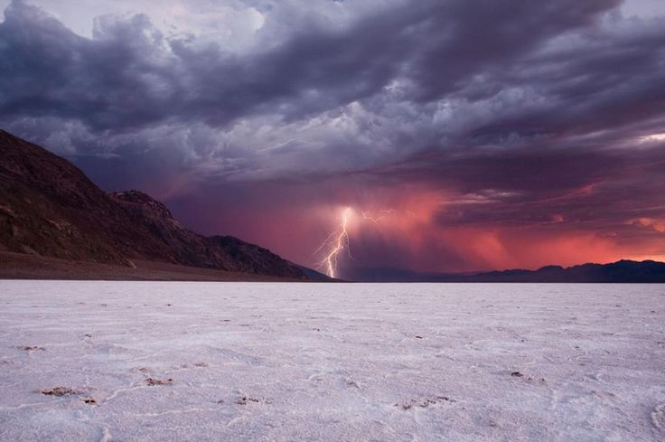 Lightning storm in the middle of the desert...