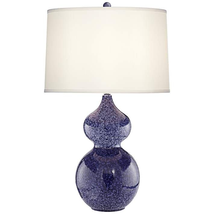 Atlantic Reactive Regatta Blue Ceramic Table Lamp - #8K210 | Lamps Plus