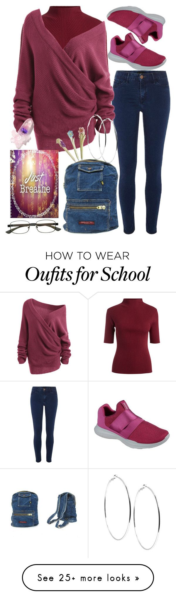 """""""Just breathe girl, you'll do fine..i promise"""" by mariamehau on Polyvore featuring River Island, Skechers, Select-A-Vision, Winky Lux and GUESS"""