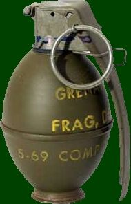 SADF.info Fragmentation Grenade Vietnam War hand grenade; to use as standard when looking for effect; originally saved to find out type of grenade and if effects existed for specific types.