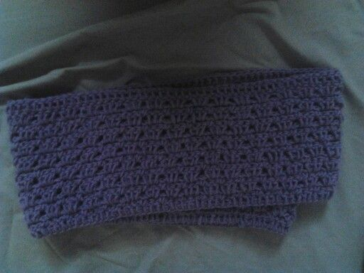 Purple infinity scarf....shell pattern