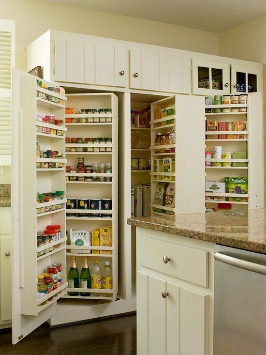 Plenty of pantry room in a compact space- a cooks dream, like a shoe closet for a shoe horse, that's how I feel ;))