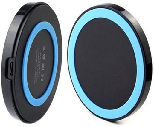 """A.S.C. Q5 Universal Qi Wireless Charger Charging Pad Transmitter                Note: This is a QI standard wireless charging pad. Please confirm your phone support QI standard. If not, you must buy a QI wireless charging receiver, we don't supply this.        More Details:        Specification:    Color: Black/Blue    Input: DC5V, 1500mA    Output: 5V, 1A max    Size: Approx. 6.9x6.9x1cm/ 2.72x2.72x0.39""""    Wireless charger for smartphones under the QI-standard.    Easy to charge your…"""