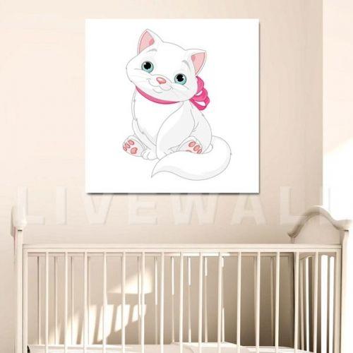 Παιδικός πίνακας σε καμβά με γατούλα
